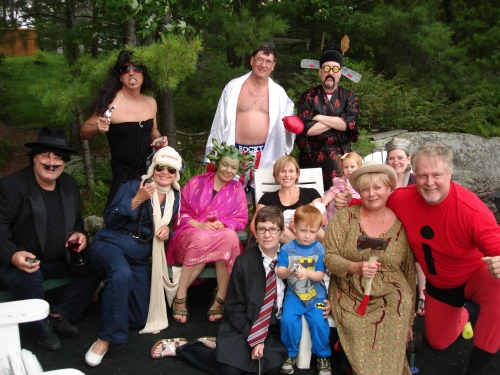 Costume party on Pine Lake